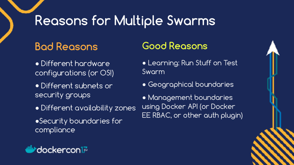 Reasons for Multiple Swarms Bad Reasons ● Diffe...