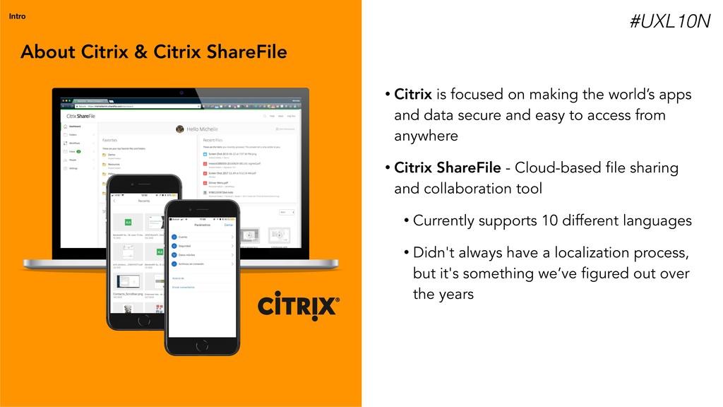 About Citrix & Citrix ShareFile Intro • Citrix ...