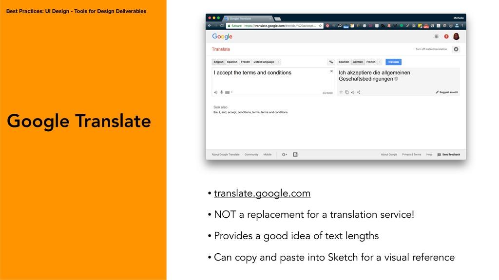 Google Translate • translate.google.com • NOT a...