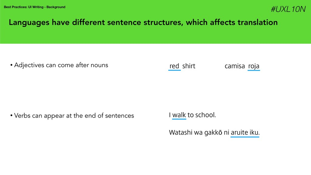 Languages have different sentence structures, w...