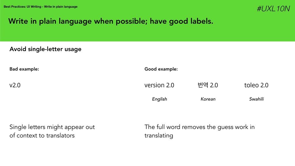 Write in plain language when possible; have goo...