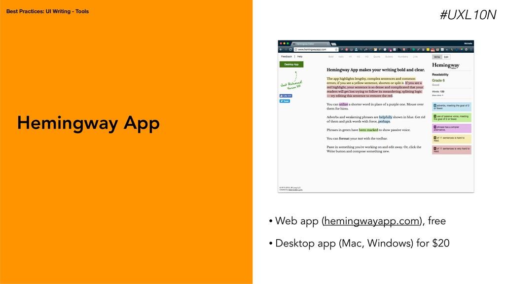 Hemingway App • Web app (hemingwayapp.com), fre...
