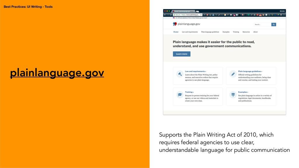 plainlanguage.gov Supports the Plain Writing Ac...