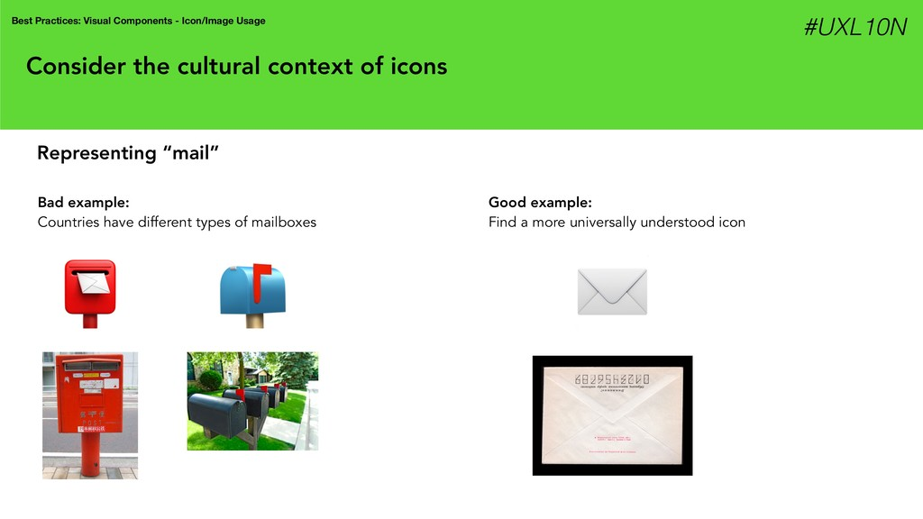 Consider the cultural context of icons Best Pra...