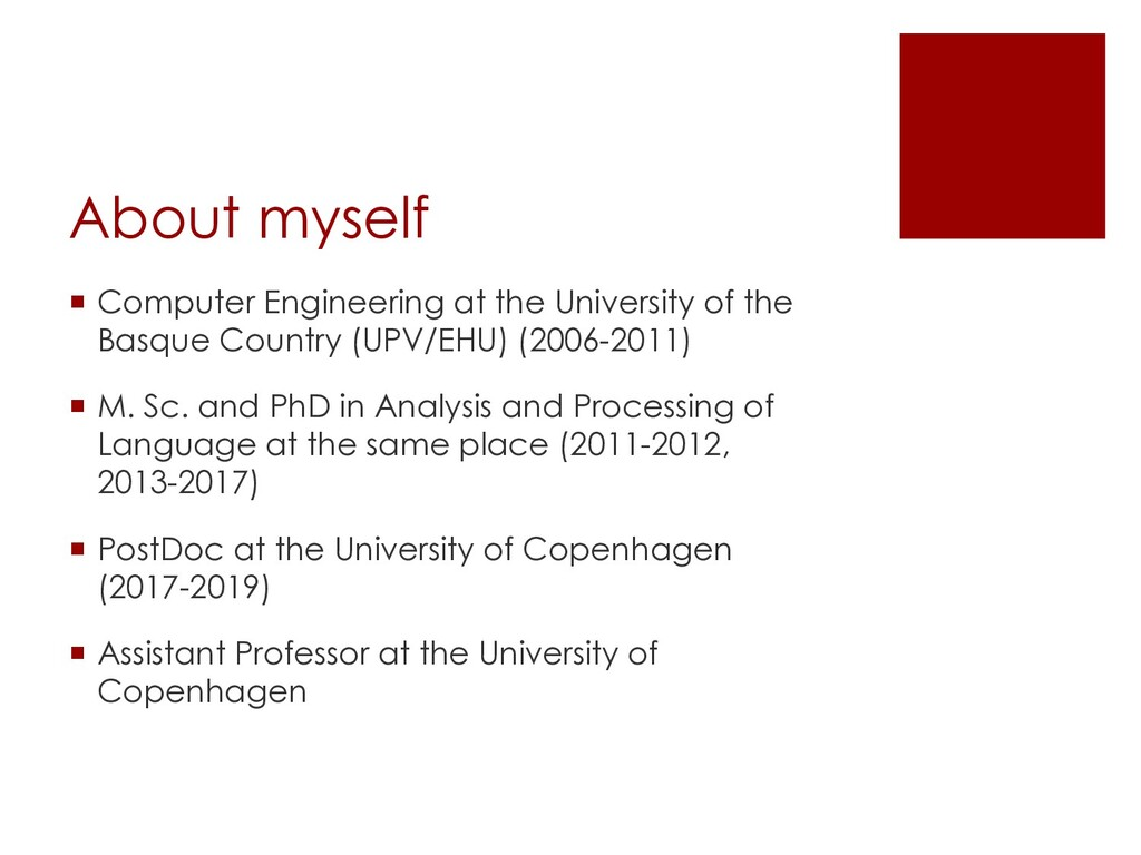 About myself ¡ Computer Engineering at the Univ...