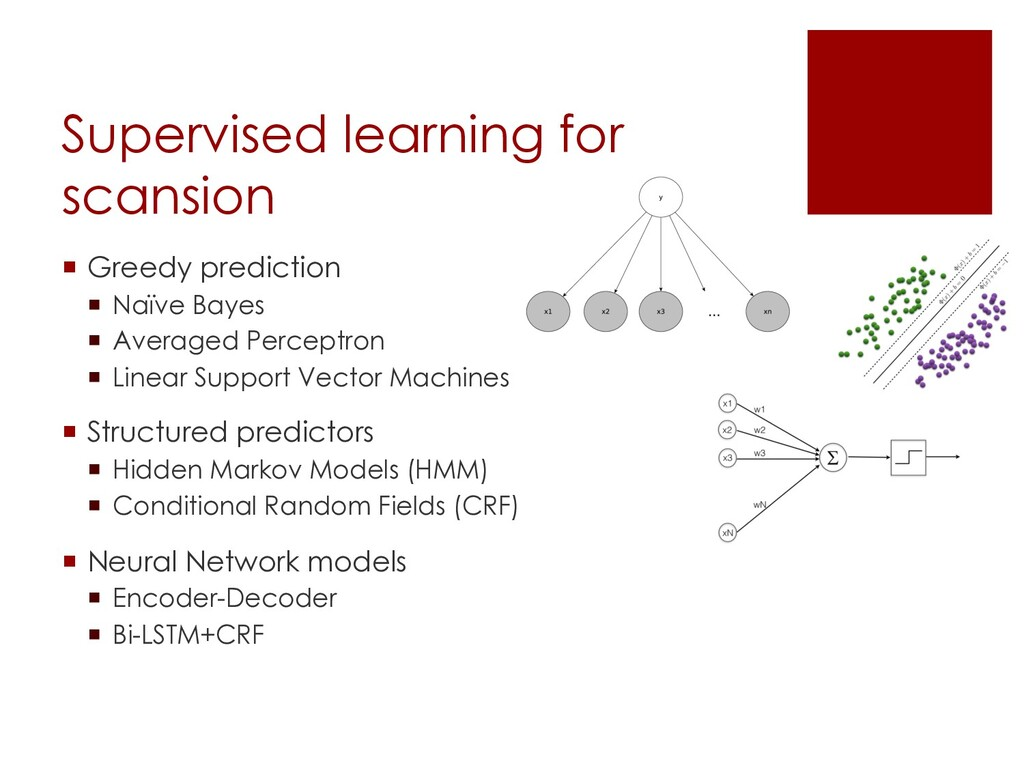 Supervised learning for scansion ¡ Greedy predi...