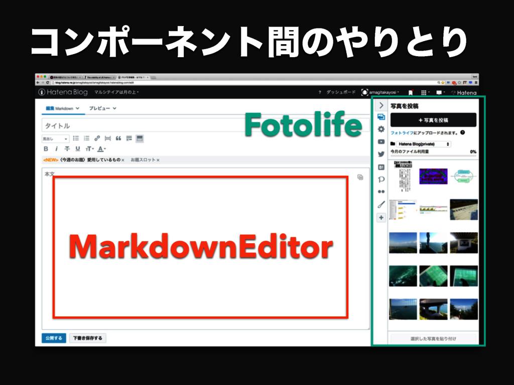 ίϯϙʔωϯτؒͷΓͱΓ Fotolife MarkdownEditor