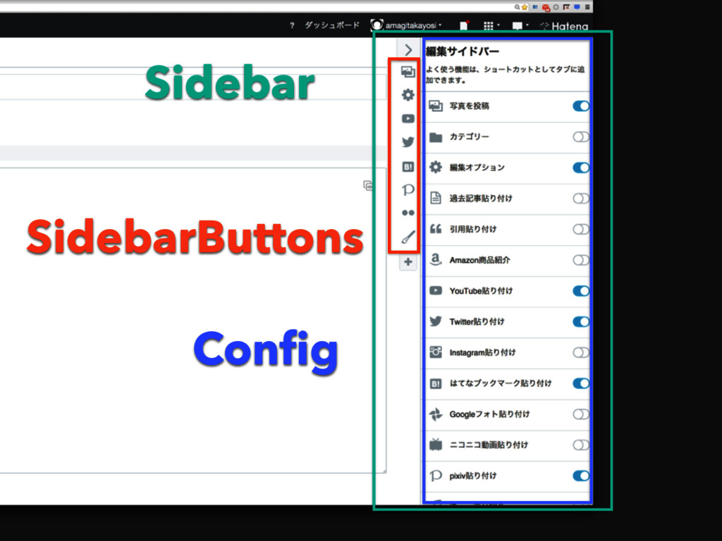 Sidebar SidebarButtons Config