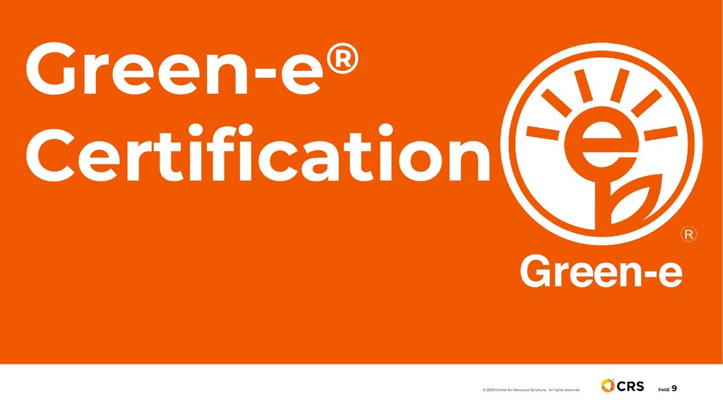 Green-e® Certification PAGE 9 © 2020 Center for...