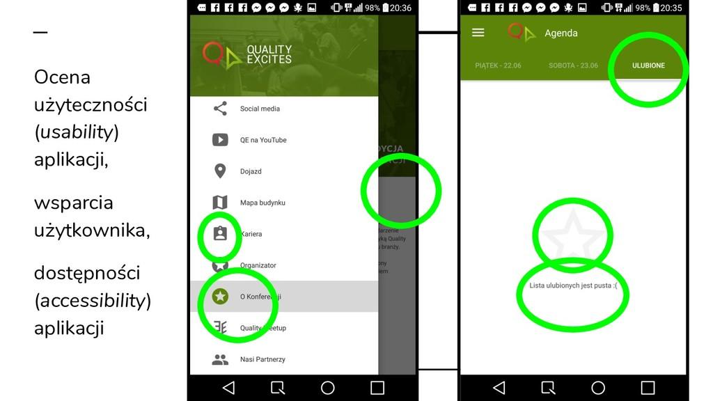 Ocena użyteczności (usability) aplikacji, wspar...