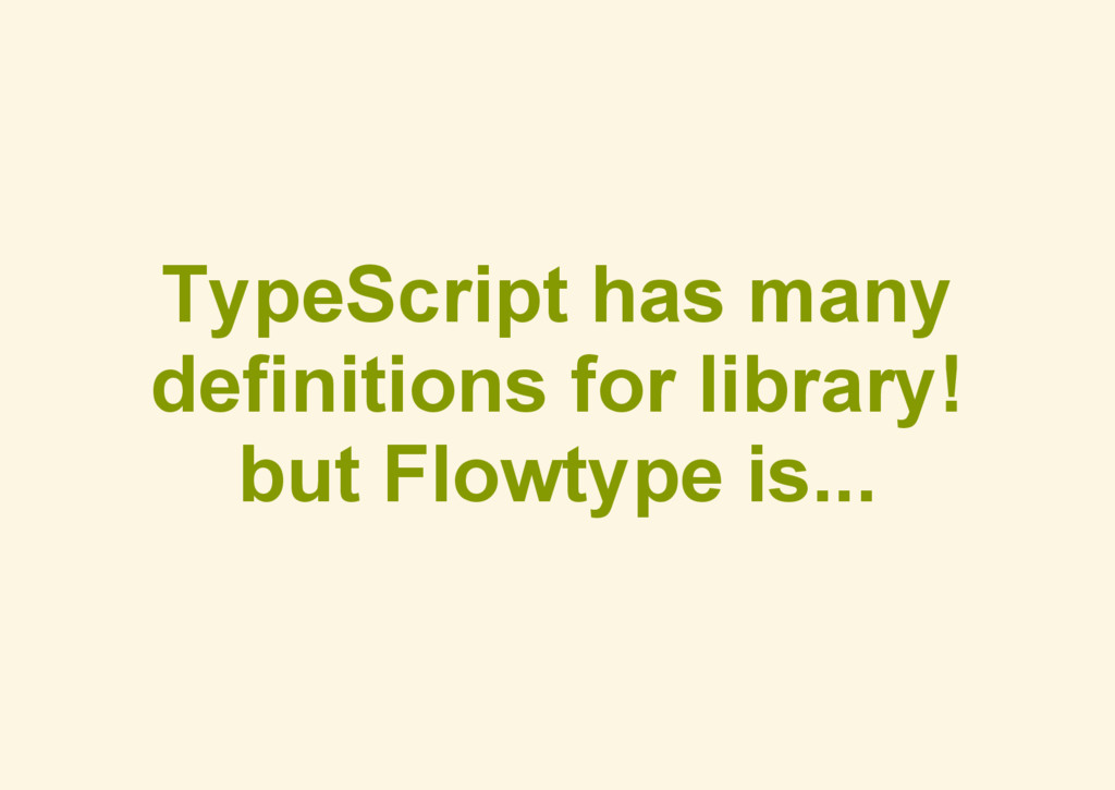 TypeScript has many definitions for library! bu...