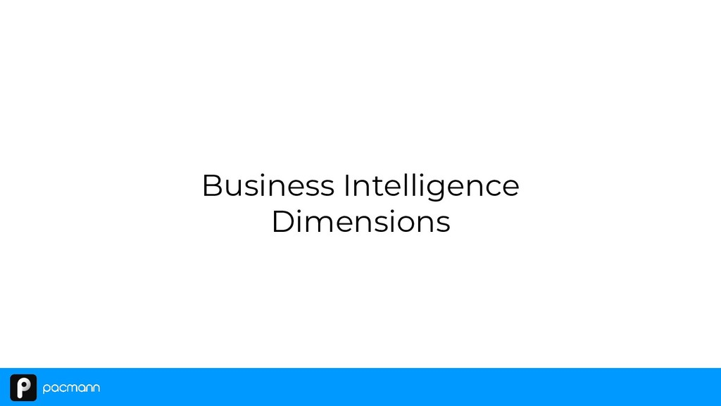 Business Intelligence Dimensions