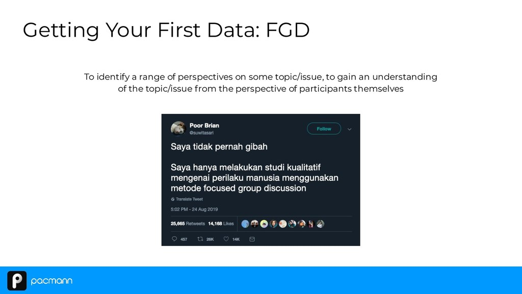 Getting Your First Data: FGD To identify a rang...