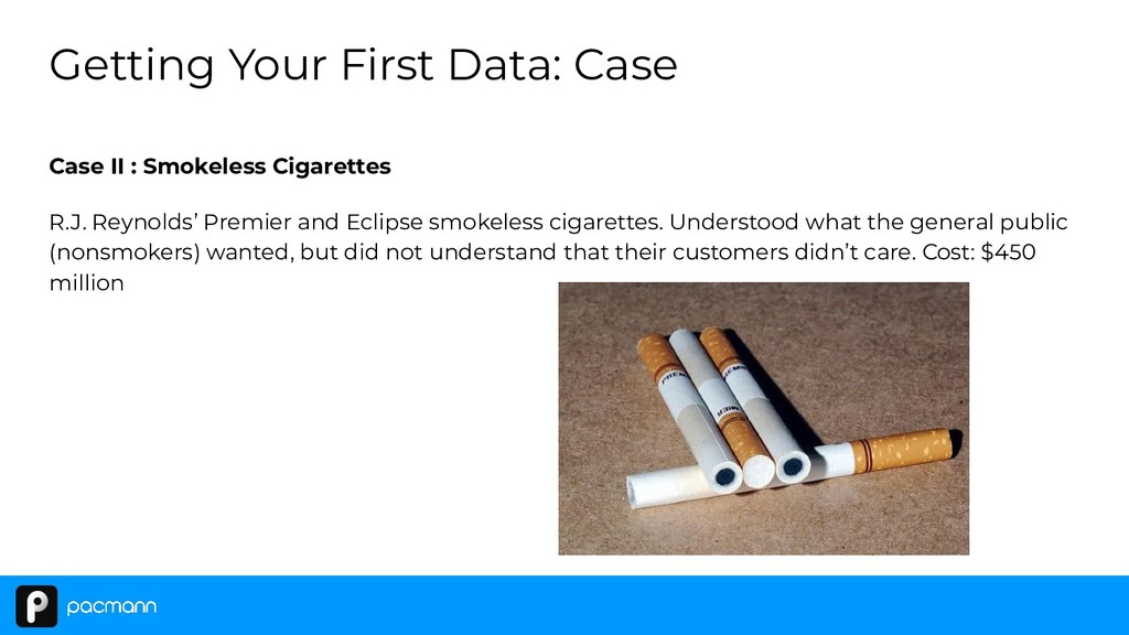 Case II : Smokeless Cigarettes R.J. Reynolds' P...