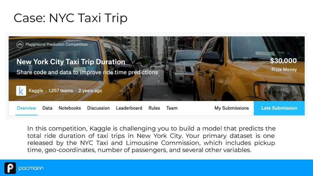 Case: NYC Taxi Trip In this competition, Kaggle...