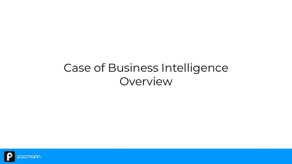 Case of Business Intelligence Overview