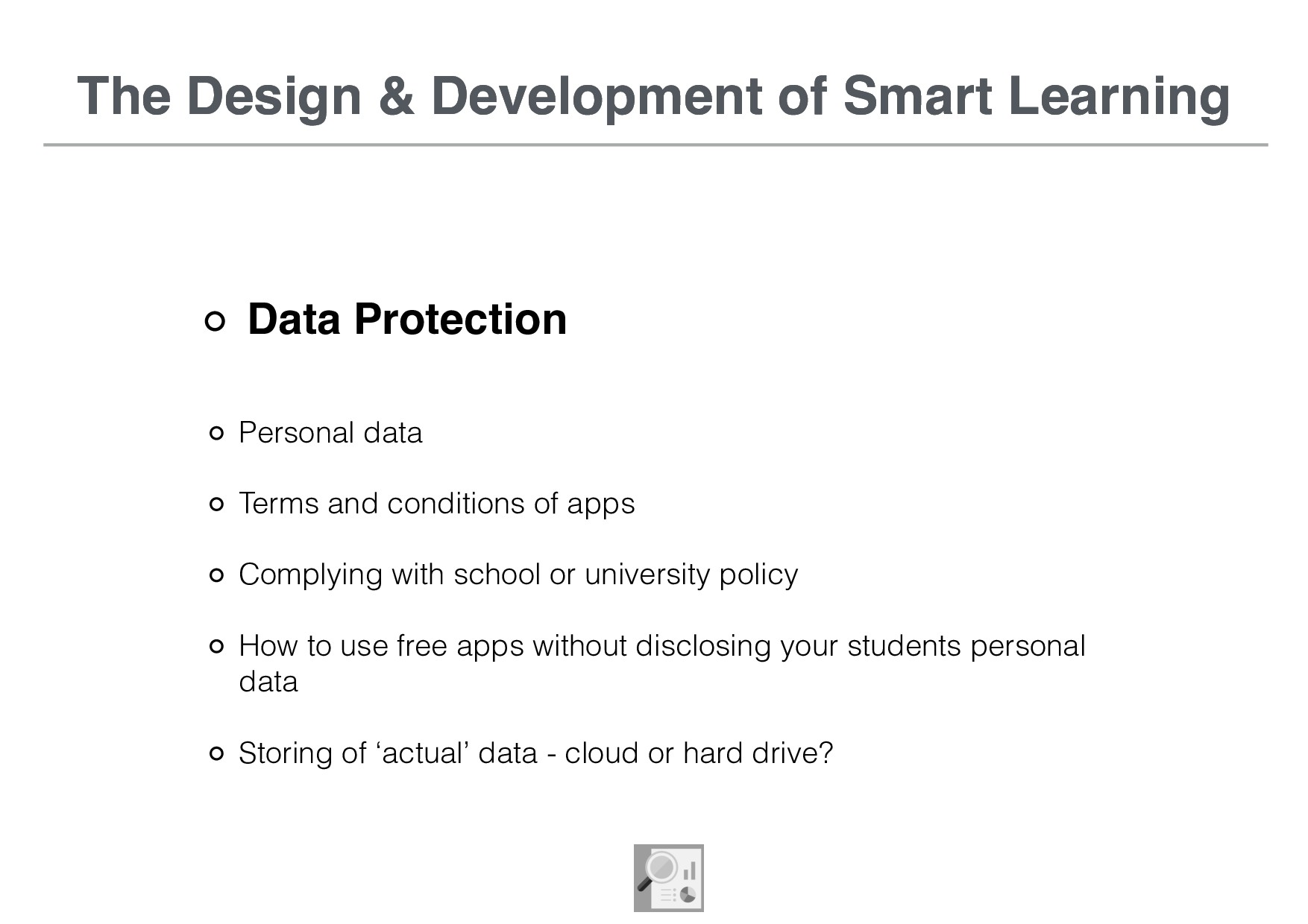 The Design & Development of Smart Learning Data...