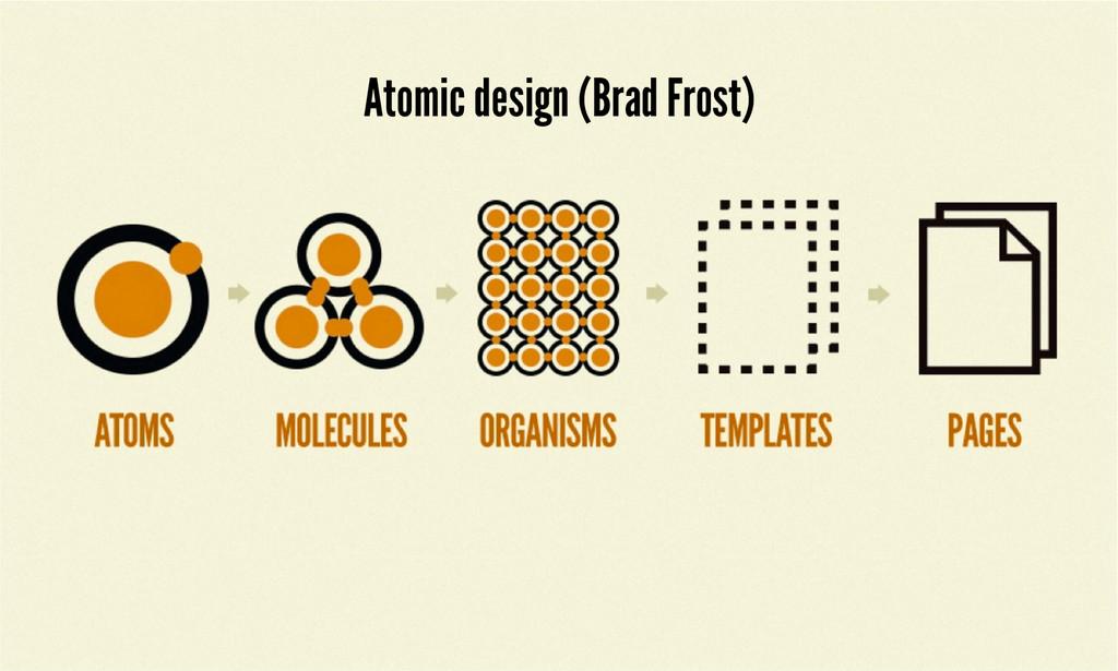 Atomic design (Brad Frost)