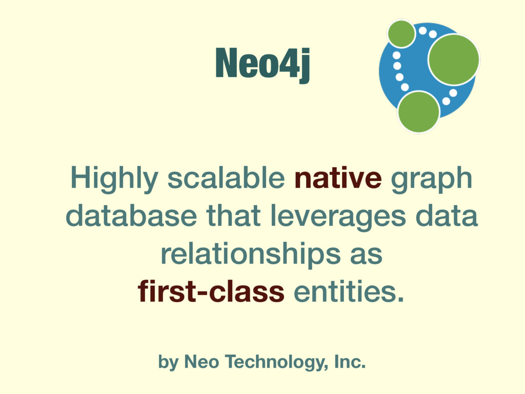 Neo4j Highly scalable native graph database tha...