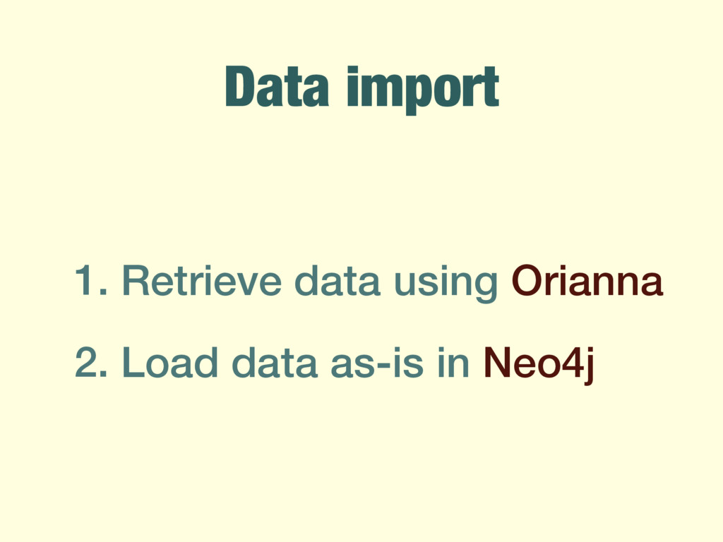 Data import 1. Retrieve data using Orianna 2. L...
