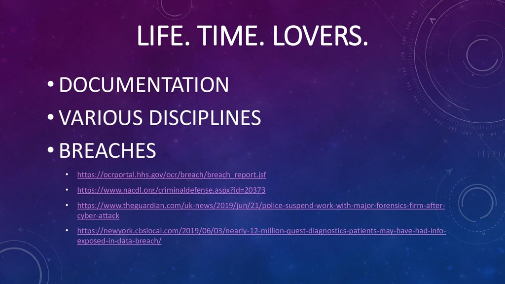 LIFE. TIME. LOVERS. • DOCUMENTATION • VARIOUS D...