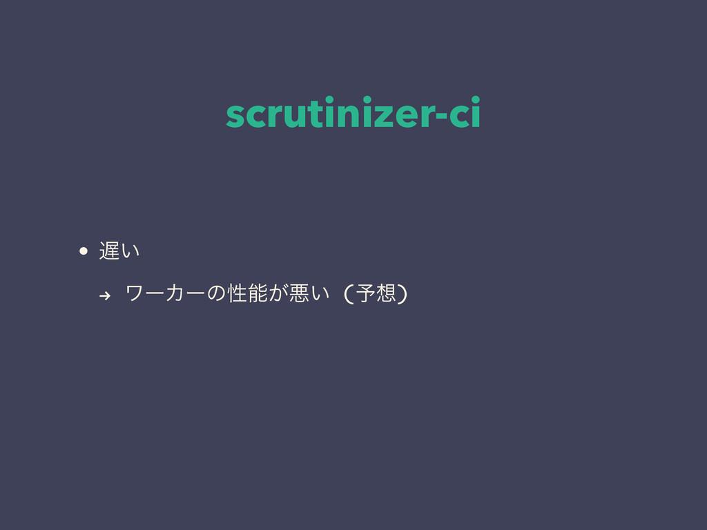 "scrutinizer-ci • ͍ "" ϫʔΧʔͷੑ͕ѱ͍ (༧)"