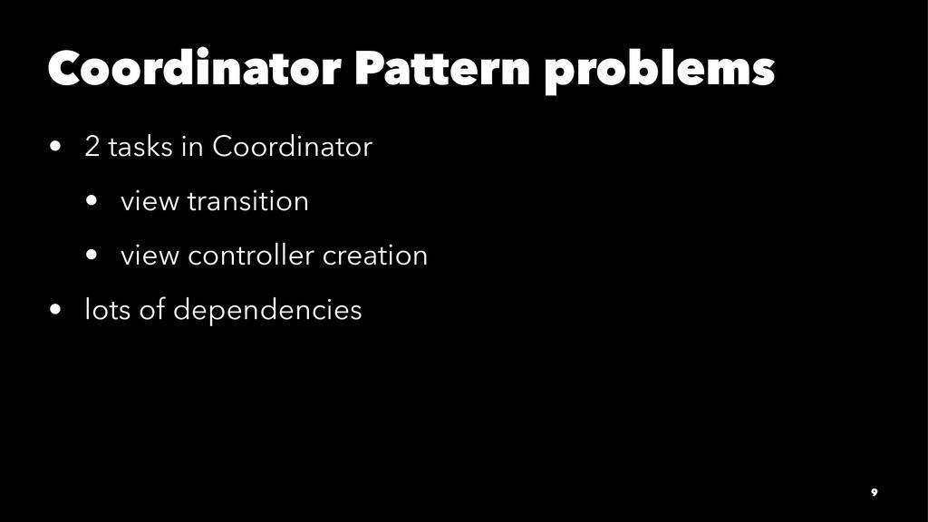 Coordinator Pattern problems • 2 tasks in Coord...
