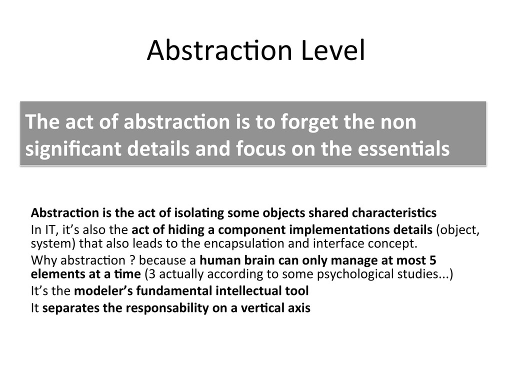 Abstrac+on	
