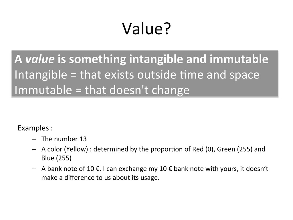 Value?	