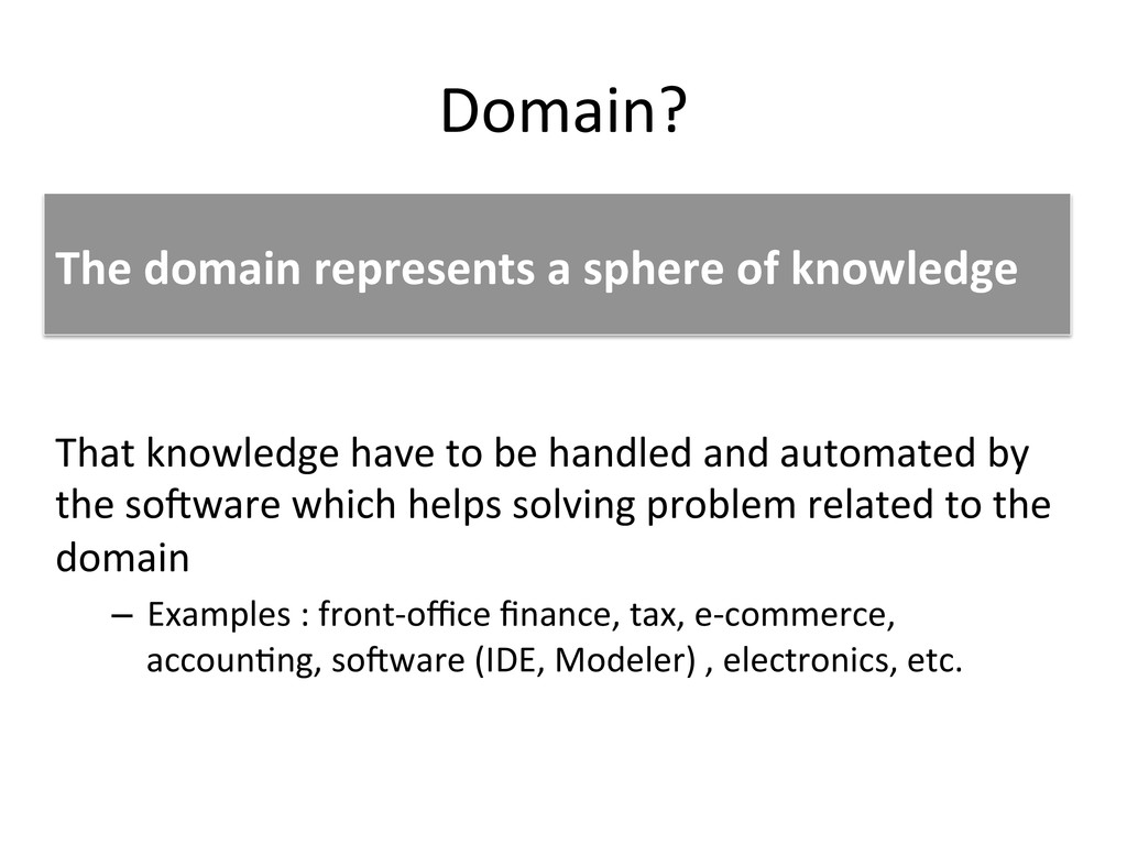 Domain?	