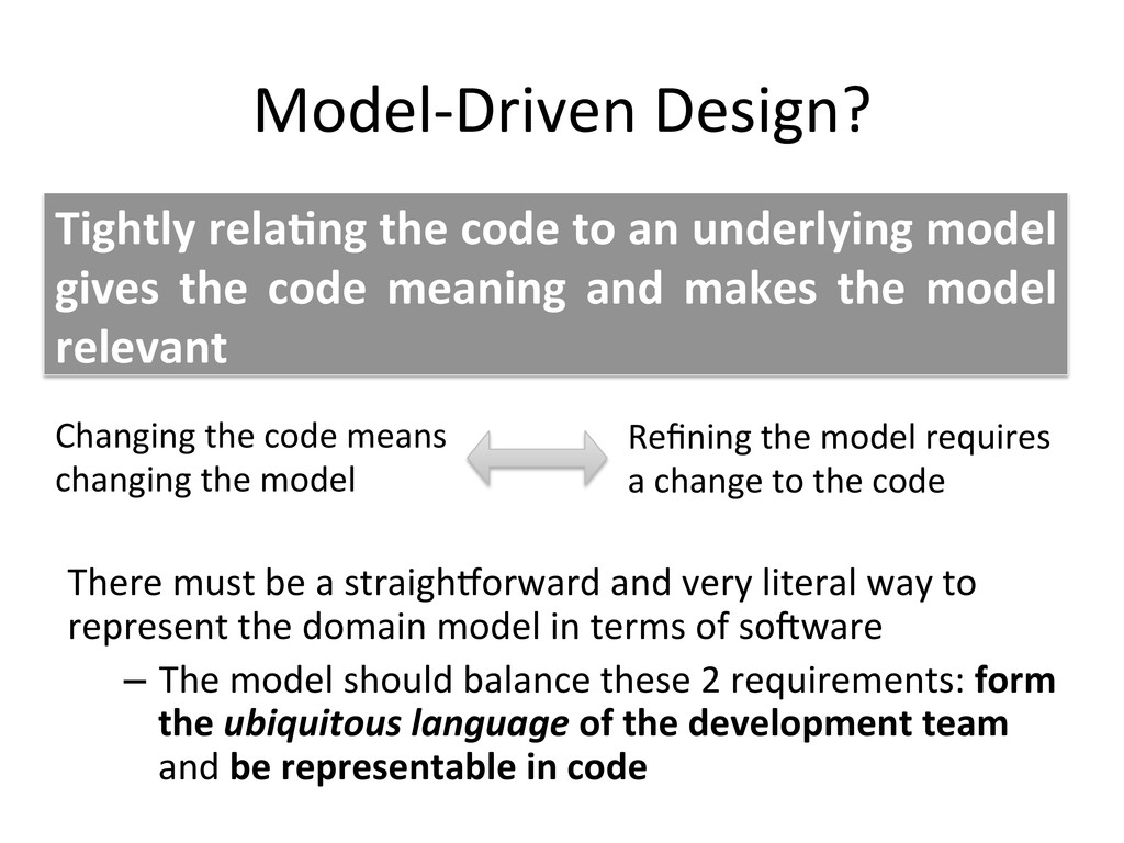 Model-­‐Driven	
