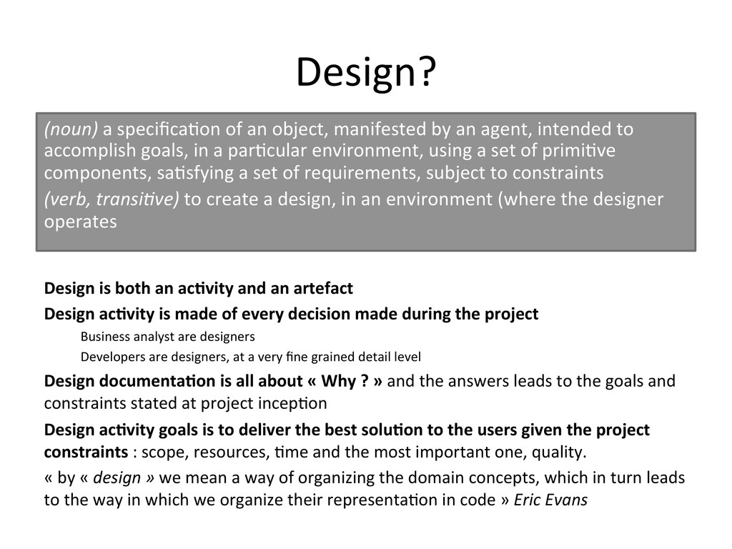 Design?	