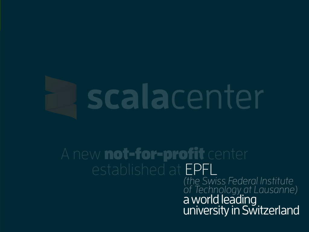A new not-for-profit center established at EPFL...
