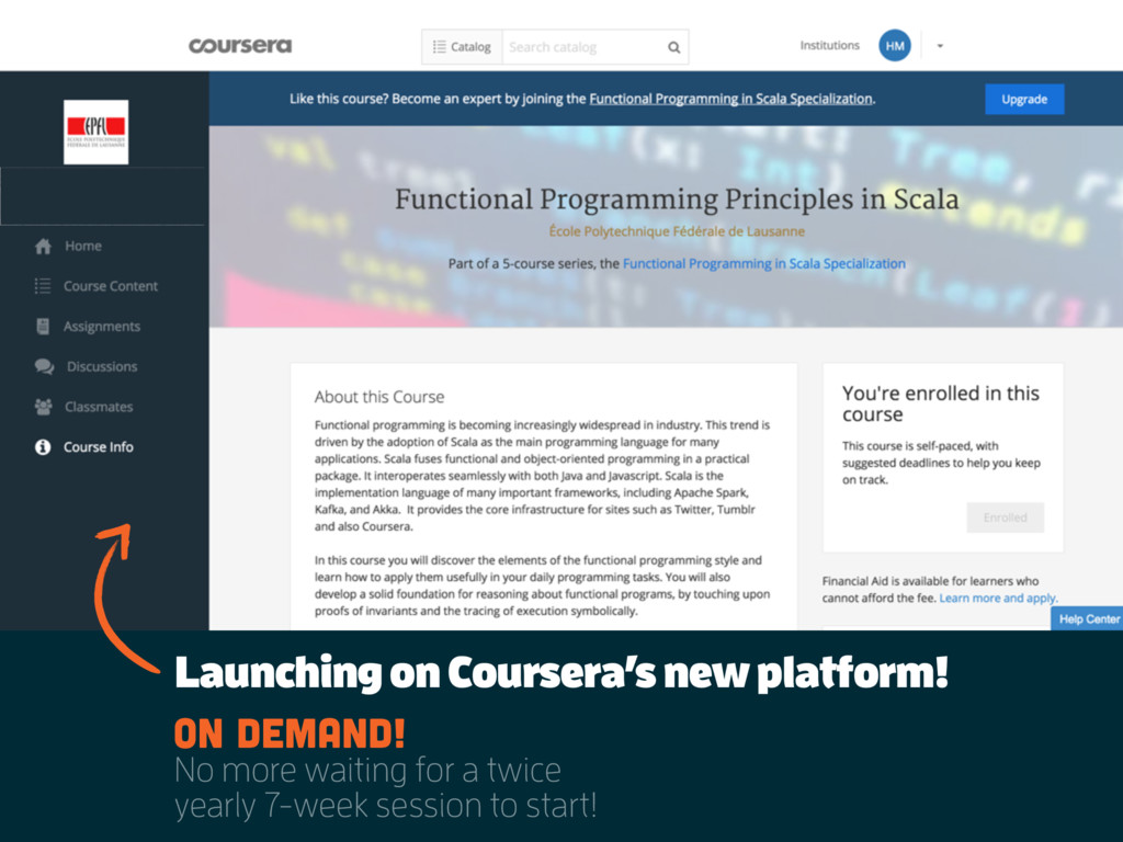 Launching on Coursera's new platform! On demand...
