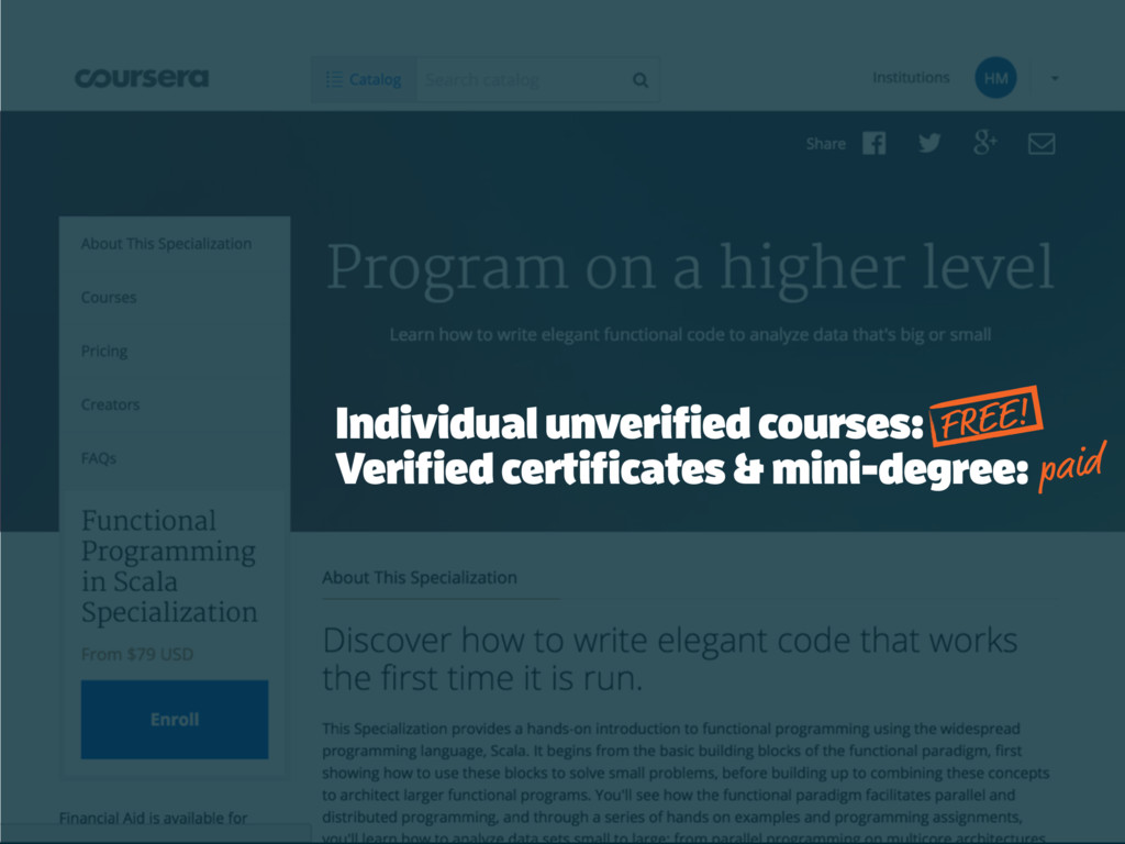 Individual unverified courses: Verified certifi...