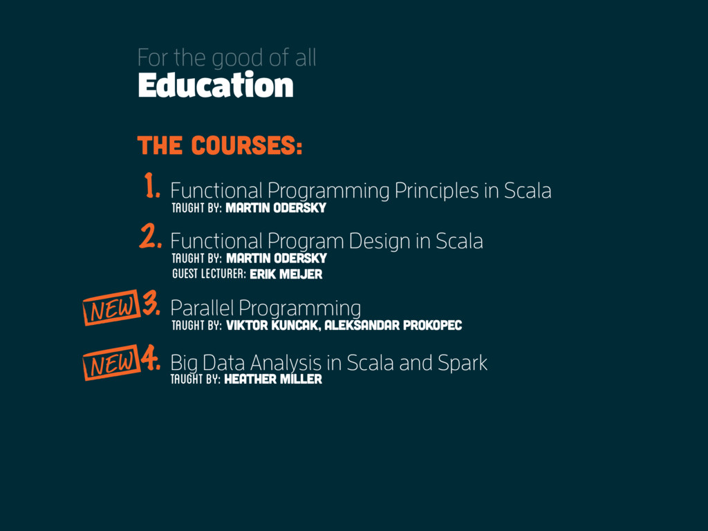Education For the good of all the courses: Func...