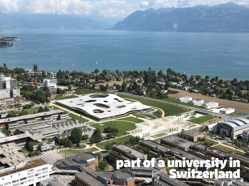 part of a university in Switzerland \