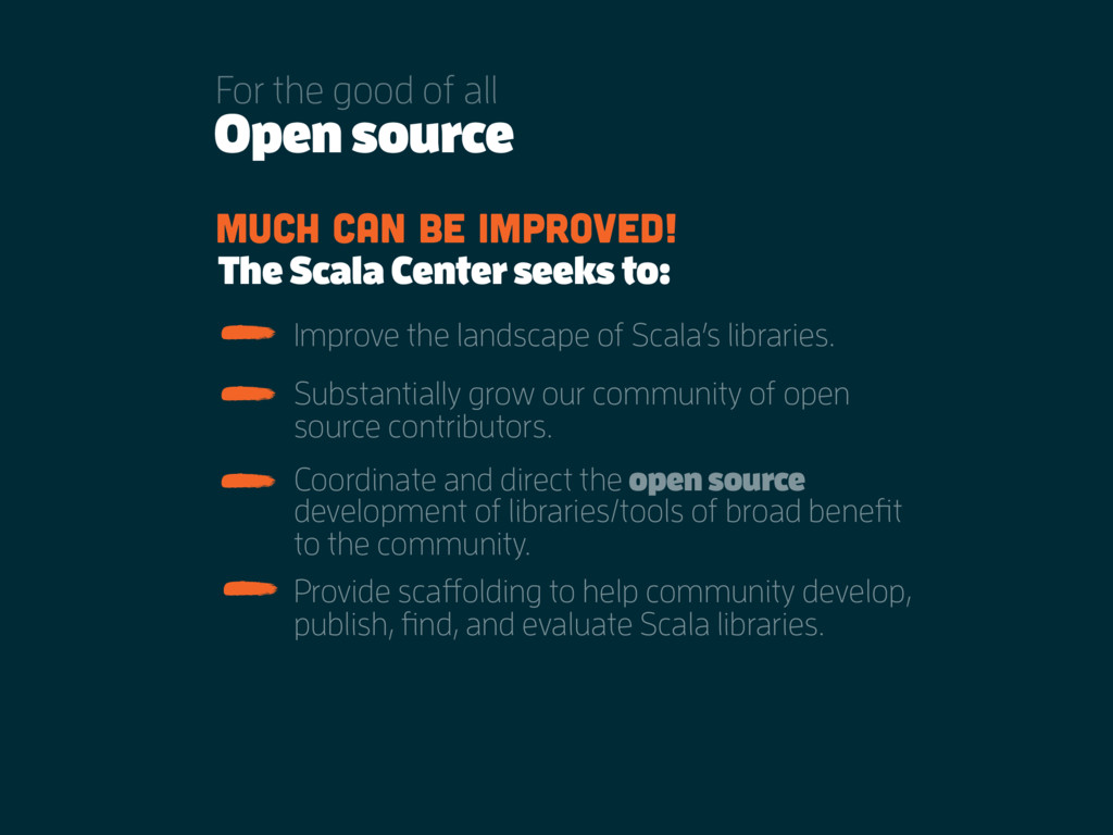 Open source For the good of all Much can be imp...