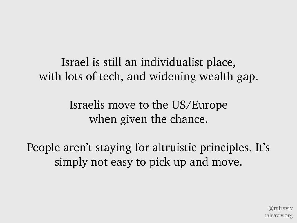 @talraviv talraviv.org Israel is still an indiv...