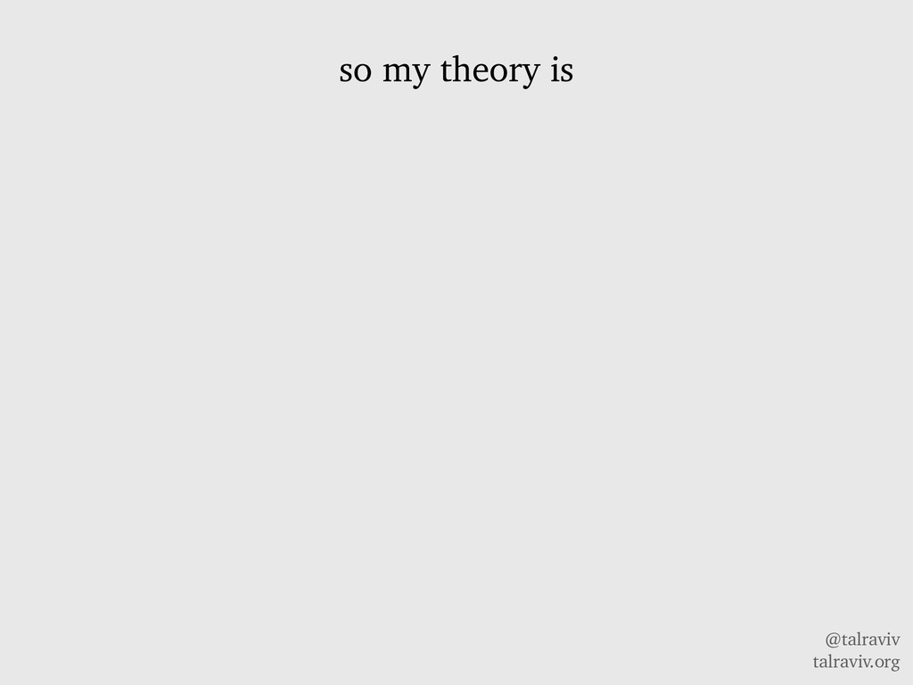 @talraviv talraviv.org so my theory is