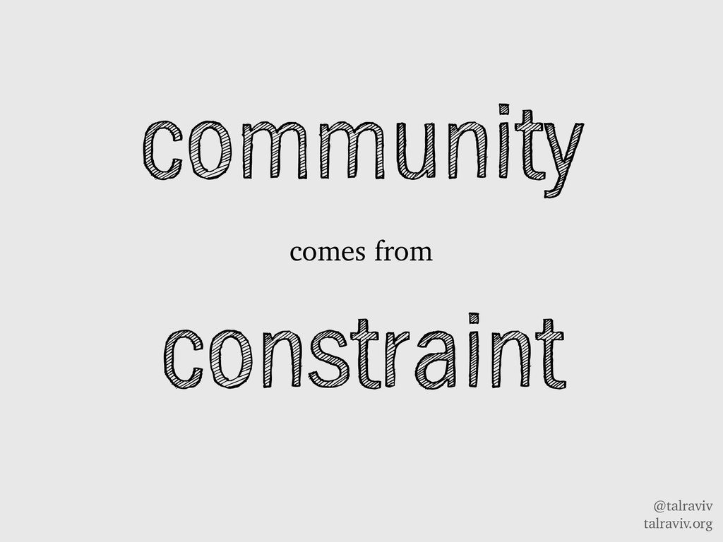 @talraviv talraviv.org community comes from con...