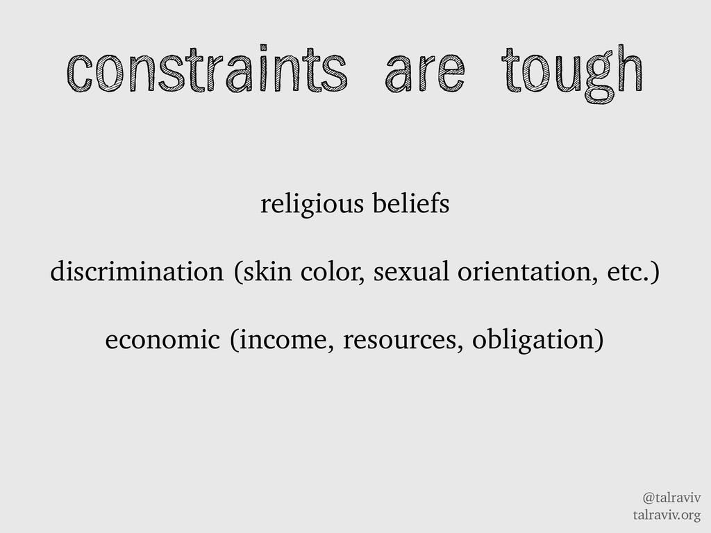 @talraviv talraviv.org constraints are tough re...