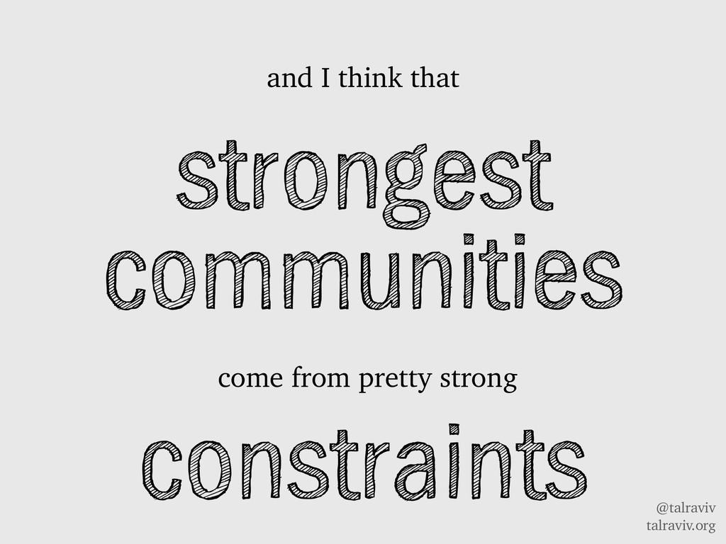 @talraviv talraviv.org strongest communities an...
