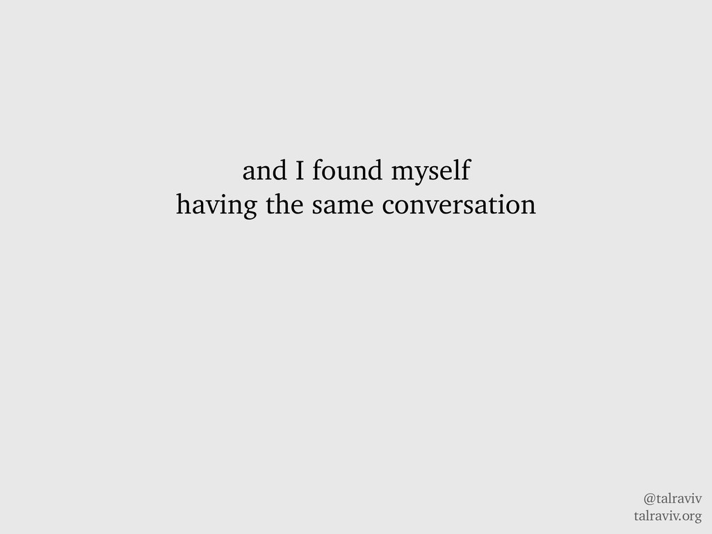 @talraviv talraviv.org and I found myself havin...