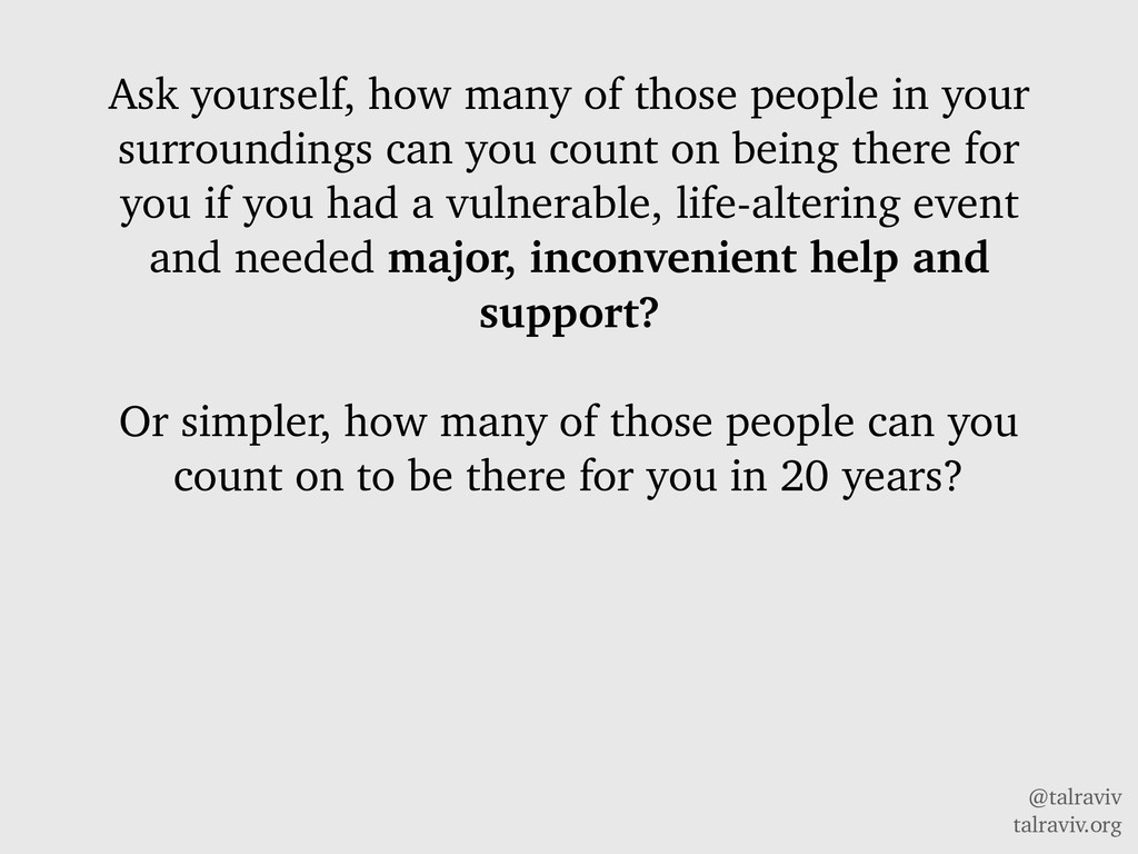 @talraviv talraviv.org Ask yourself, how many o...