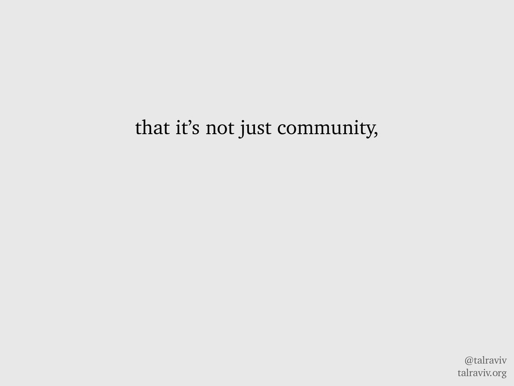 @talraviv talraviv.org that it's not just commu...