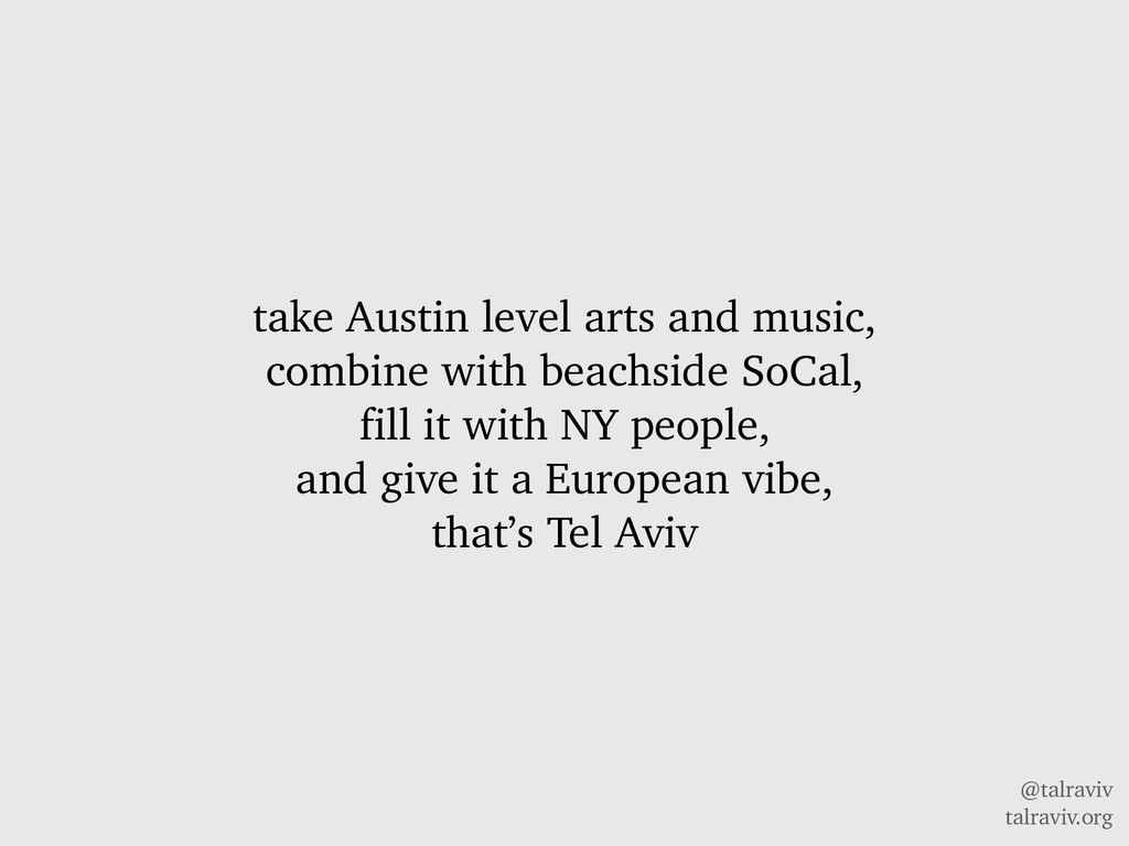 @talraviv talraviv.org take Austin level arts a...