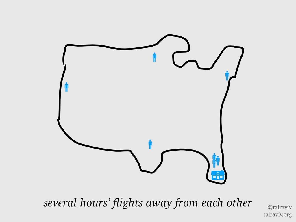 @talraviv talraviv.org several hours' flights a...
