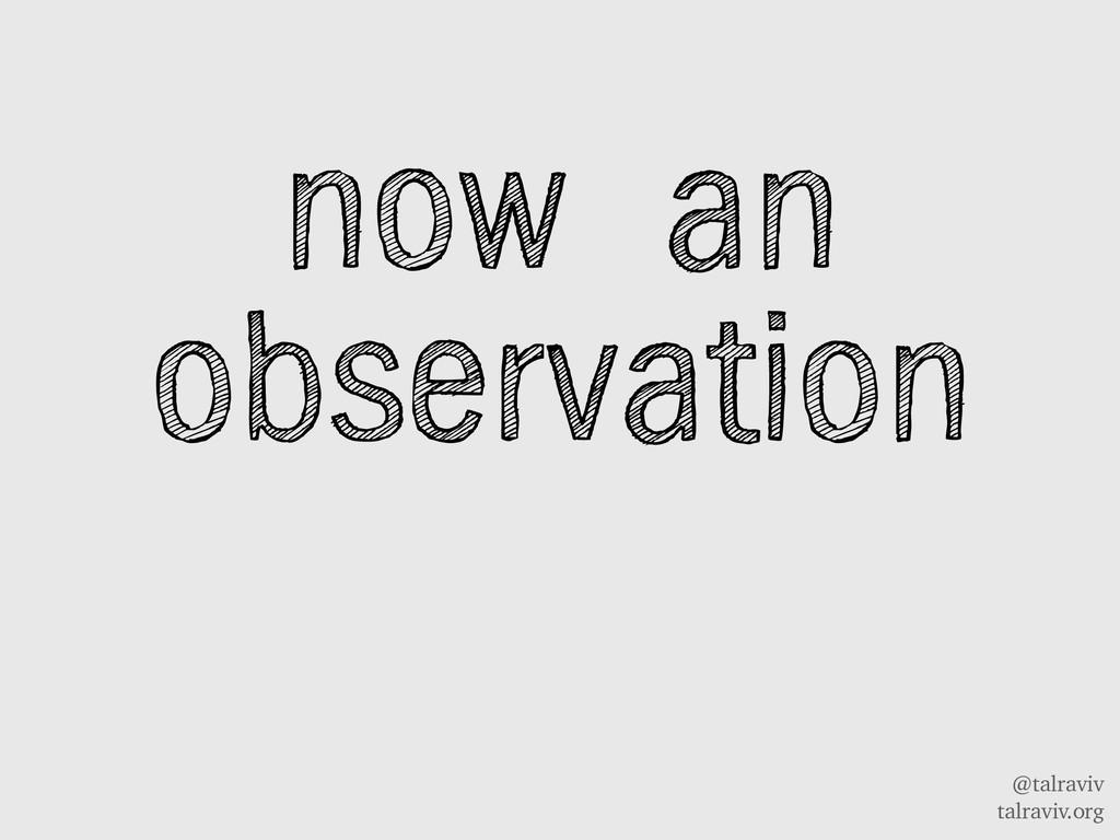 @talraviv talraviv.org now an observation