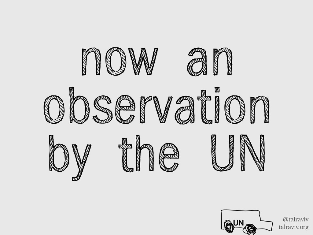 @talraviv talraviv.org now an observation by th...